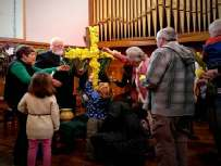 Lapal,Carters Lane Baptist Church, Easter Cross of daffodils